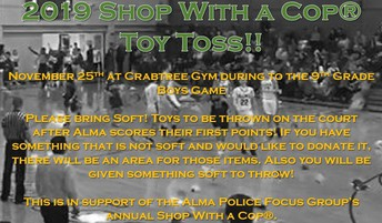 Alma Police Focus Group's Annual Shop with a Cop® Toy Toss:
