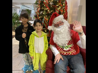 Mr. Frasher as Santa
