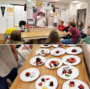Culinary students create art with food