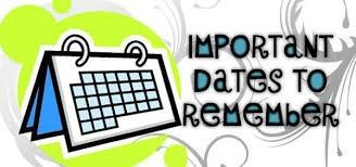 Important Dates and EOY Success