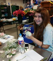 Floral Design Students make corsages for prom!