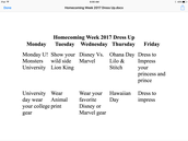 2017 Homecoming Week
