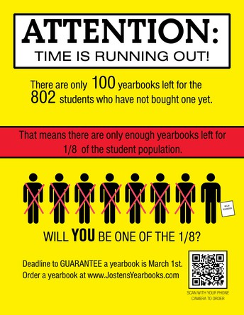 Deadline to Guarantee a Yearbook