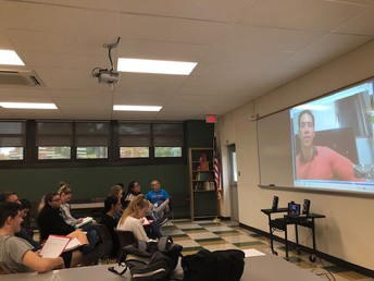 Ms. Cuffari's class skyped with Frank from Tokyo, Japan