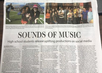 Saints Show Choir Featured in American Press Scene