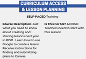 Self- Paced Curriculum Access & Lesson Planning