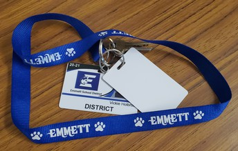 Students and staff carry a white key card to gain access.