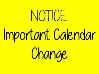 Spring Calendar Update