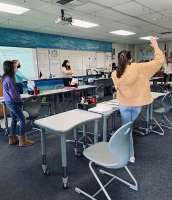 On our feet in class - Sometimes that is how we learn