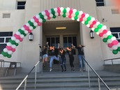 ASB rocked at balloon arch building