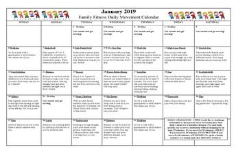 Get Fit Movement Calendar