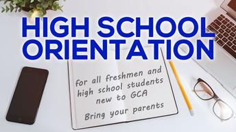 New Student/Parent High School Orientation