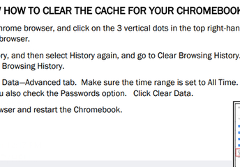 Clearing the Cache on a Chromebook