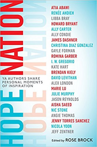 """Some of today's most popular Young Adult authors are featured in this collection of essays that offer hope to many who are dealing with the same issues.  """"It's a collection of unique and personal experiences shared by favorite writers for teens. Stories of resilience, resistance, hardship, loss, love, tenacity, and acceptance - stories that prove that sometimes, hope can be found only on the other side of adversity."""""""