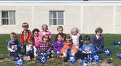 Mrs. Cummings' Class and their pinwheels