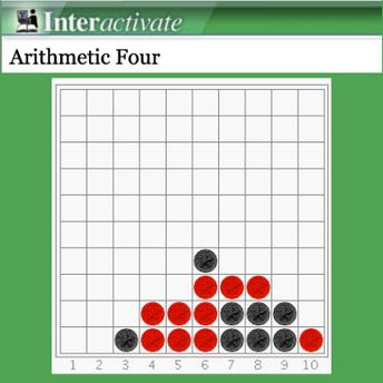 Arithmetic Four online game screenshot