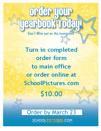 March  ~ Year Book Sales Begin