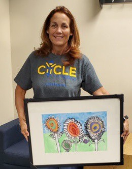 Artwork made by Landis Elementary School students sold for $175 at the CYCLE Ball silent auction benefiting CYCLE Houston.