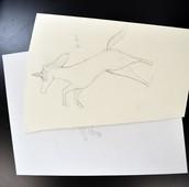 Sketch progress by Nadia