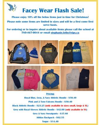 Facey Wear Christmas Sale!