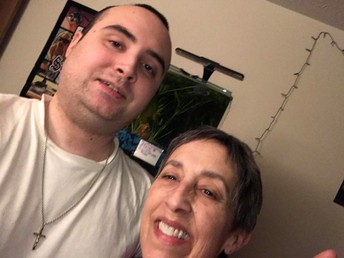 Photo of Mrs. Clark and her son