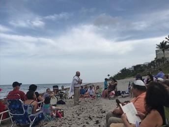 Shabbat on the Beach led by Rabbi Baum