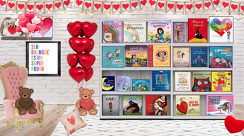 Maestra Yesenia's Virtual Valentine Stories Bookcase