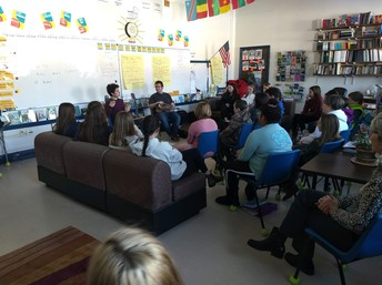 6th grade and High School French Students