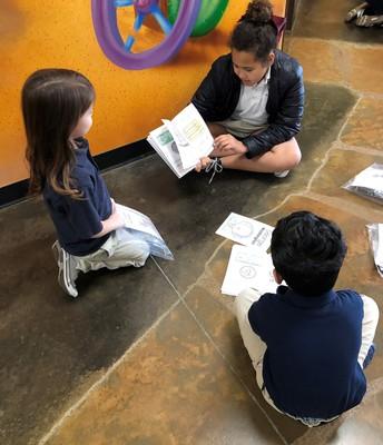 Fourth grader, Kennidee Smith, Mentors her Kindergarten Buddies