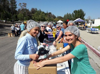 Fight Against Hunger Food Packing Event