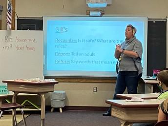 Miss Headley teaching body safety.