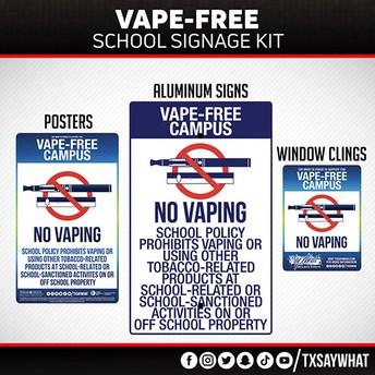 Vape-Free Campus Signage Kit