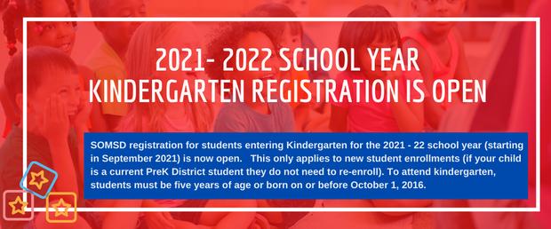 2021-22 Kindergarten Registration Now Open