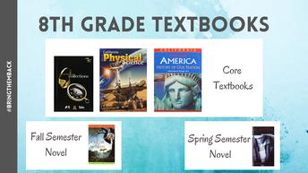 8th Grade Textbooks to Return