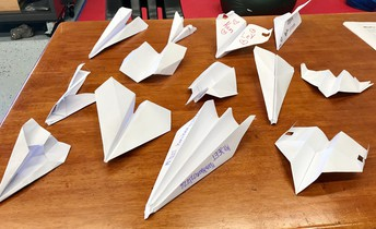 5th grade paper airplane prototypes for testing
