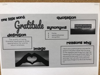 7A & 7D One Word 2020 - Gratitude