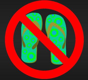 No Flip Flips Flops Please!