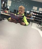 Look at this 2nd grader READ!!  Great job Alex!