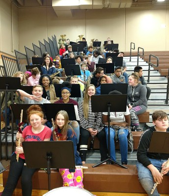 Westport Band at 2nd Quarter Assembly