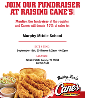 Raising Cane's- Murphy Spirit Night