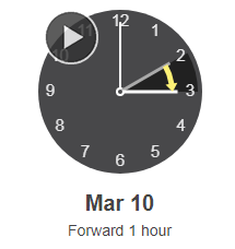 Daylight Savings Time 2019