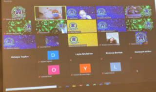 A screenshot of the Zoom session Getting Along with Others.