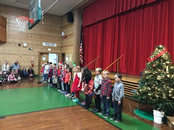 Second graders singing for us!