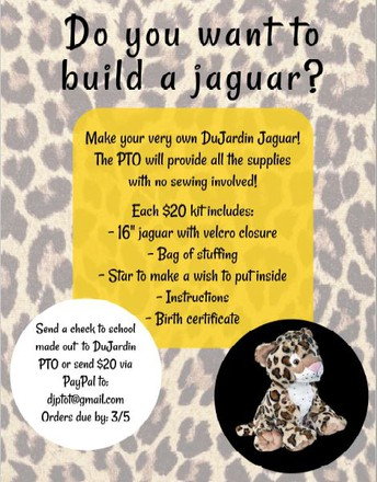 PTO Fundraiser..........Do you want to build your very own Jaguar?
