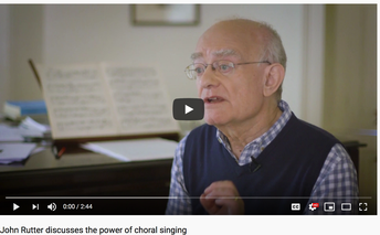 Rutter: Power of Choral Singing