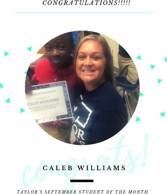 Caleb Williams - September Student of the Month