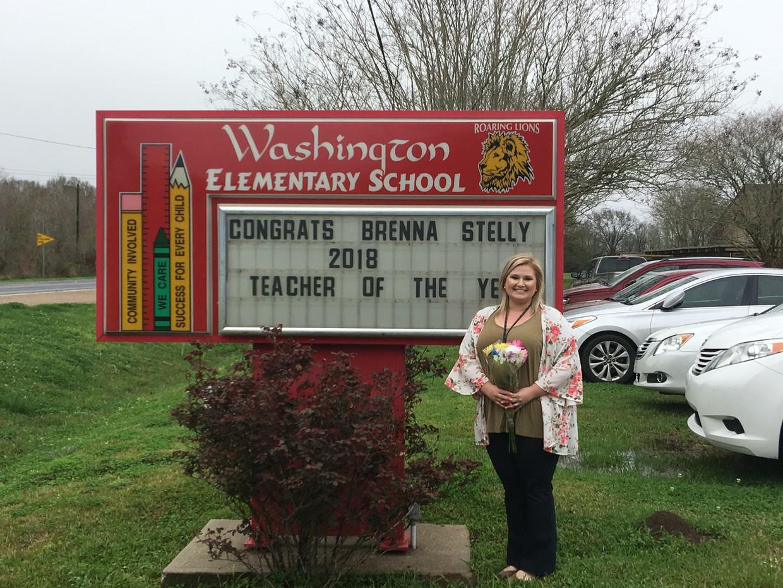 Congratulations, Mrs. Brenna Stelly, Teacher of the Year.