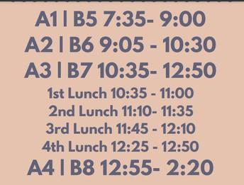 2nd Qtr Bell Schedule