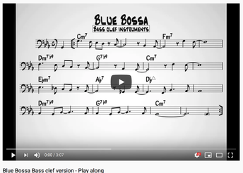 Bossa Bass Clef Play Along