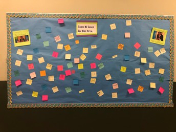 Post-it notes of positive comments